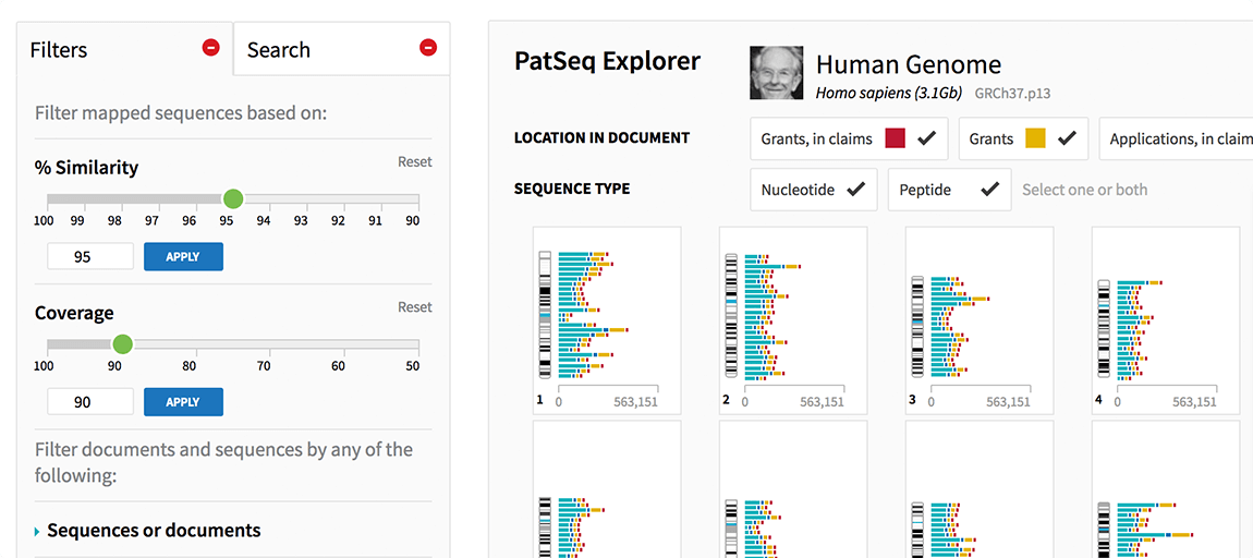 PatSeq: Exploring Biological Sequences in patents